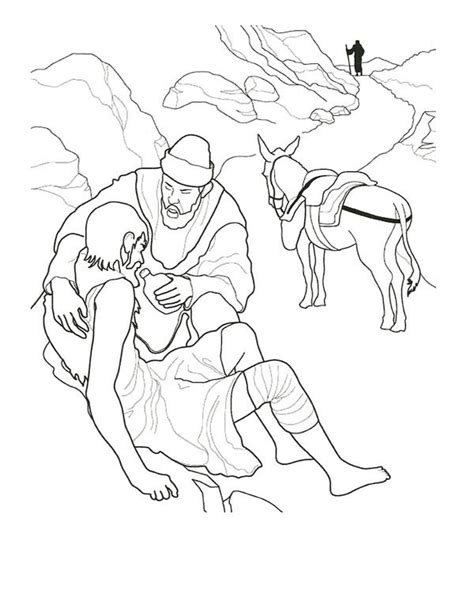 printable coloring pages of the samaritan samaritan clip sketch coloring page
