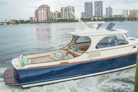 hinckley yachts tour lilly pulitzer x barton gray s new hinckley yacht palm