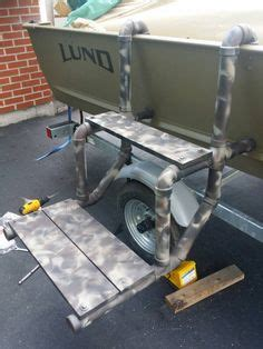 boat ladder instructions diy boat dog ladder duck hunting pinterest boating