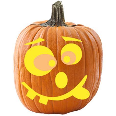 silly face pumpkin stencil