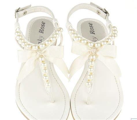 White Wedding Sandals Flat by White Flat Wedding Sandals Www Pixshark Images