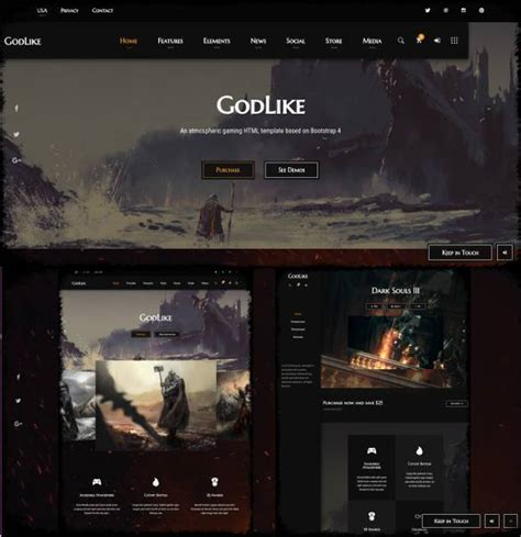 best gaming templates 48 gaming website themes templates free premium