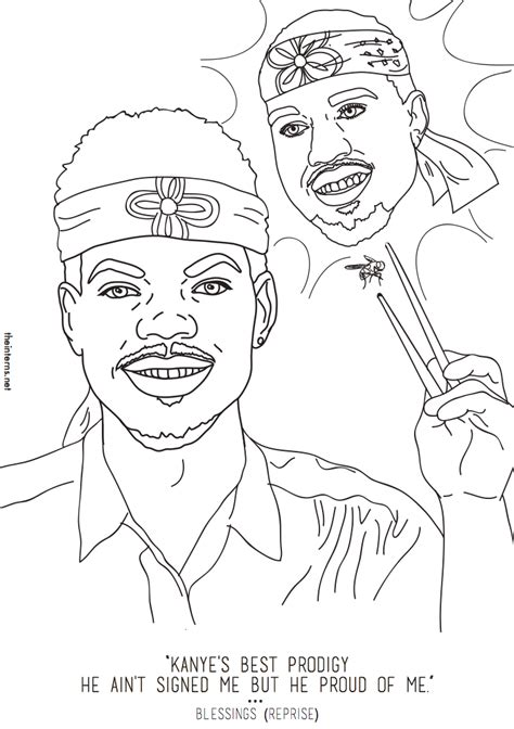 coloring book chance the rapper pitchfork cast coloring pages coloring home