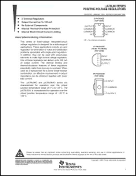 transistor lm338k datasheet instruments ua78l00 datasheet