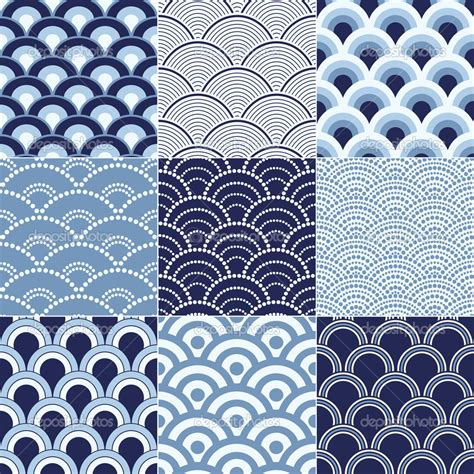 japanese pattern drawing 8 japanese wave pattern vector images seamless ocean