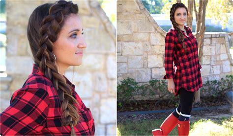 easy diy dutch side braid cute girls hairstyles youtube
