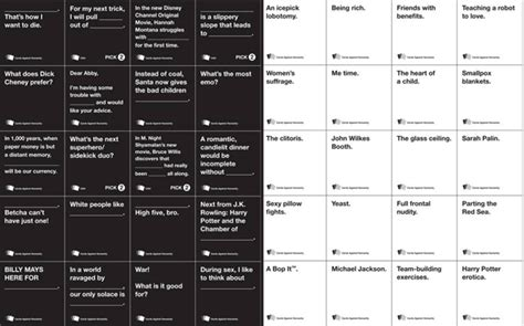 Cards Against Humanity Printable Version