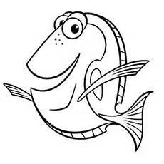 baby nemo coloring pages colorable fish clipart best