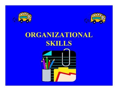 Organizational Skills | organizational skills powerpoint