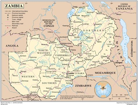 zambia map administrative map of zambia zambia administrative map vidiani maps of all countries in