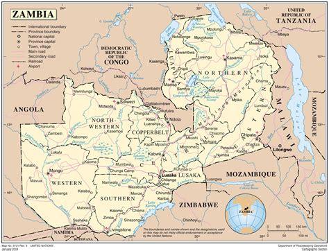 sambia regionen karte