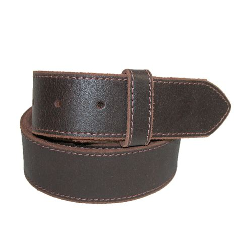 mens vintage leather distressed no buckle bridle belt by