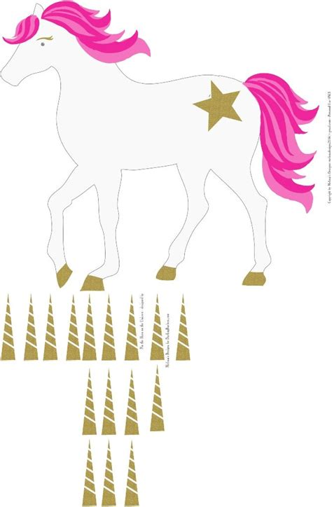 printable unicorn horn unicorn pin the horn on the unicorn 13x19 hayden party