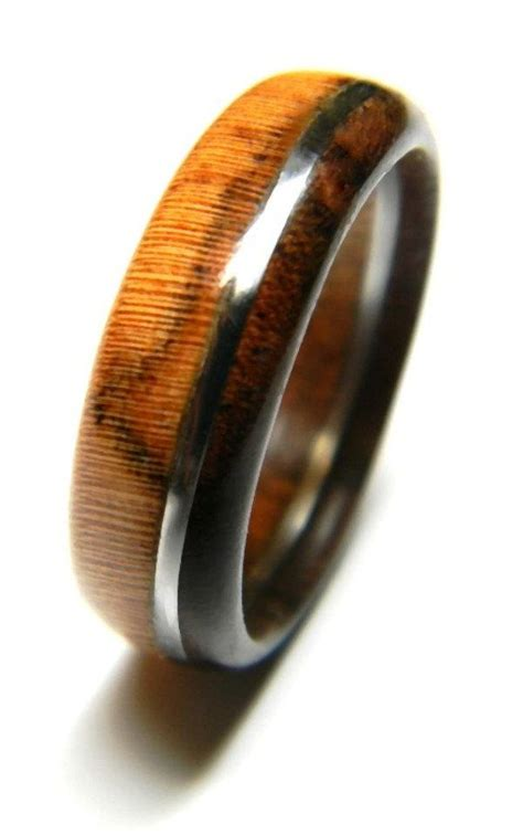 Wedding Rings Made Of Wood by Unique Walnut And Olivewood Wood Ring Jewelry Ring Wood