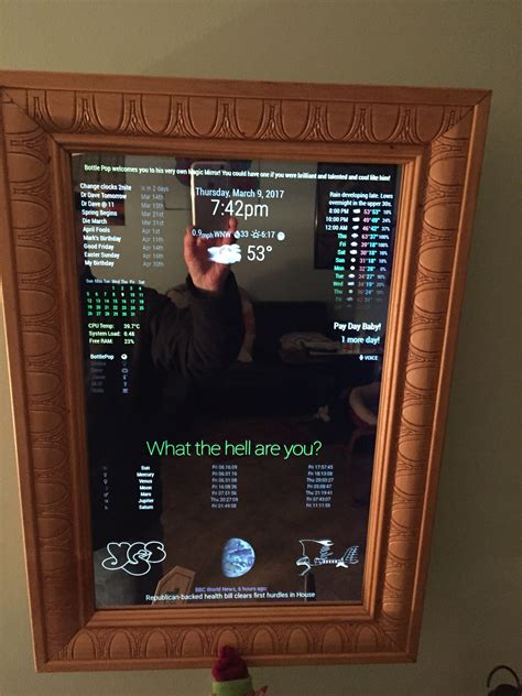 Magic Display Mirror Switches Between You And Would You by Frame For Magic Mirror Magicmirror Forum