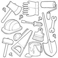 coloring page garden tools objects 187 coloring pages 187 surfnetkids