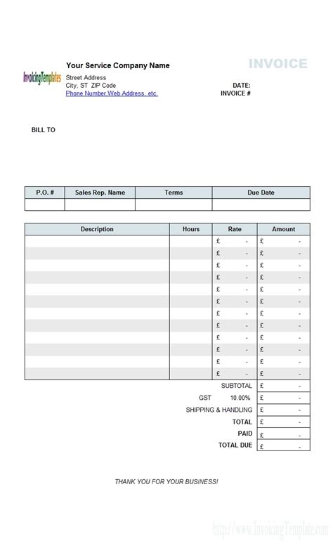 Blank Contractor Invoice Invoice Template Ideas Blank Contractor Invoice Template