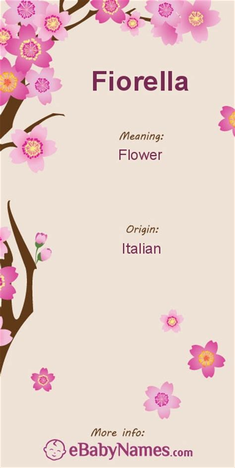 fiore meaning meaning of fiorella fiorella is an italian name derived