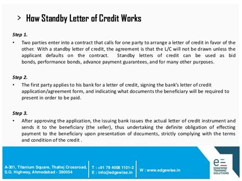 Clean Advance Letter Of Credit Letter Of Credit Lc Presentation