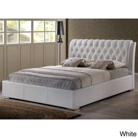 full sized beds baxton studio bianca white modern full size tufted