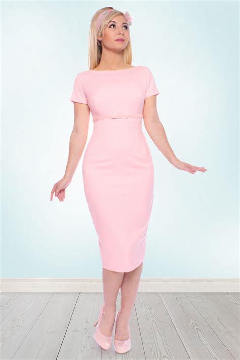 Dress Nets 50s sherrie pencil dress in light pink