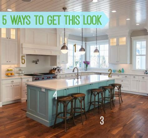 kitchens without islands 5 ways to get this look blue island kitchen kitchens creative and island kitchen