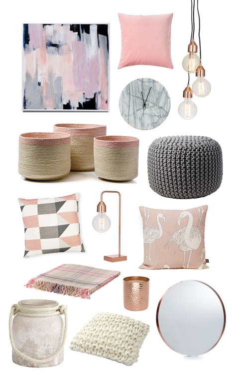 Pink Grey And Rose Gold Bedroom   Bedroom Ideas