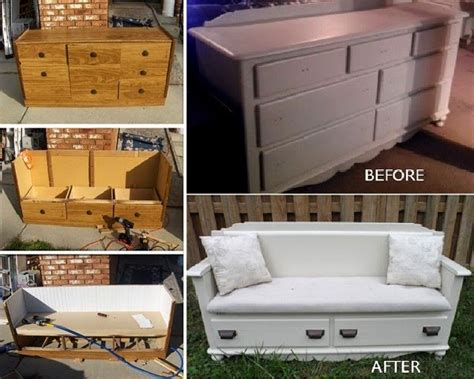 Creative Dresser Ideas by Diy Transform Your Dresser Into Fabulous Bench
