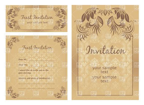 Vintage St Template ornate vintage frame templates retro postcards borders and frames royalty free