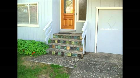 concrete stairs  decorative rock  interesting