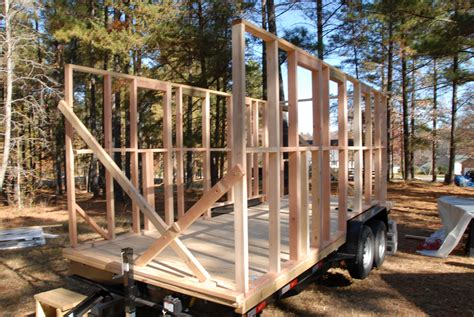 how to build a tiny house part 4 building the frame framing my tiny house the tiny life