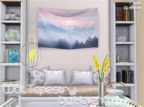 sims 4 cc home decor wall tapestry at helen sims 187 sims 4 updates
