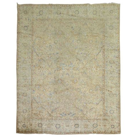 chic rugs antique kirman shabby chic rug for sale at 1stdibs
