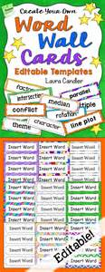 word wall cards template 3112 best best of candler images on