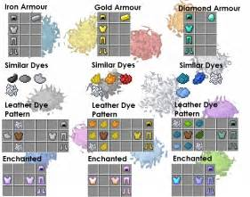 how do you make the color white dye patterns for leather armour updated minecraft