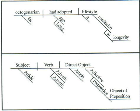 prepositional phrase diagram diagramming sentences