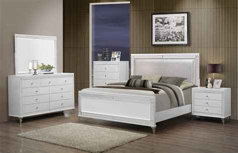 global bedroom furniture global furniture catalina 4 piece panel bedroom set in