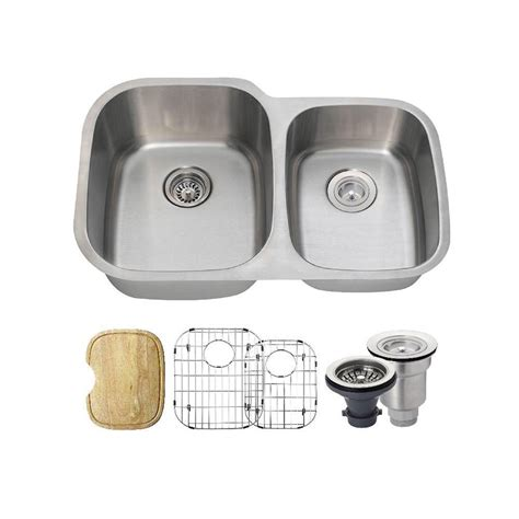 Home Depot Undermount Kitchen Sink Mr Direct Undermount Stainless Steel 32 In Bowl Kitchen Sink 3218b The Home Depot