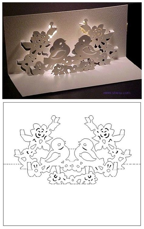 Best 20 Kirigami Ideas On Pinterest Diy Snowflakes Paper Snowflakes And 3d Paper Snowflakes Kirigami Card Template