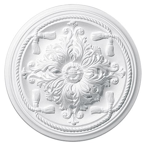 rosette styropor decosa rosette esmeralda 45 cm polystyrol hartschaum