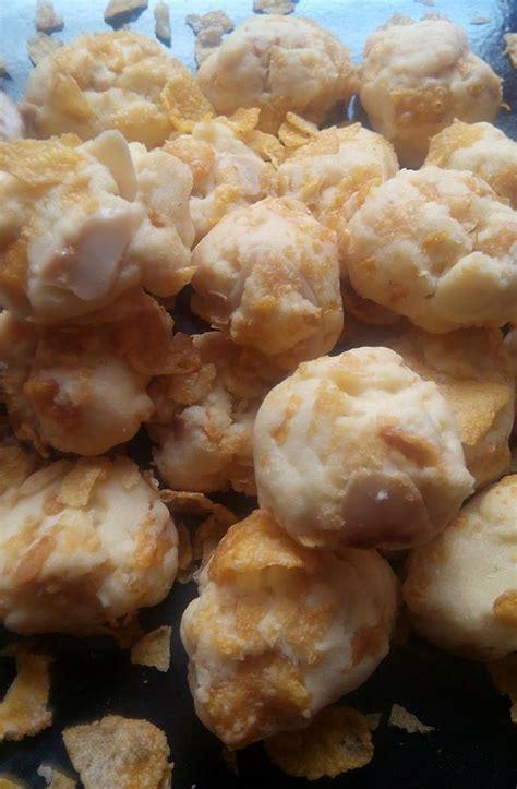 resepi biskut cornflakes almond crunchy iluminasi