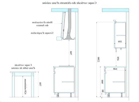 taille standard meuble cuisine atourdissant hauteur plan