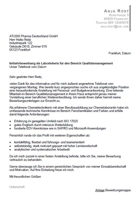 Anschreiben Ausbildung Chemielaborant Bewerbung Chemielaborant Als Laborleiter Ungek 252 Ndigt Berufserfahrung Sofort