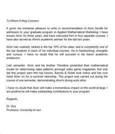 Recommendation Letter Template Graduate Letters Of Recommendation For Graduate School 38 Free Documents In Pdf Word