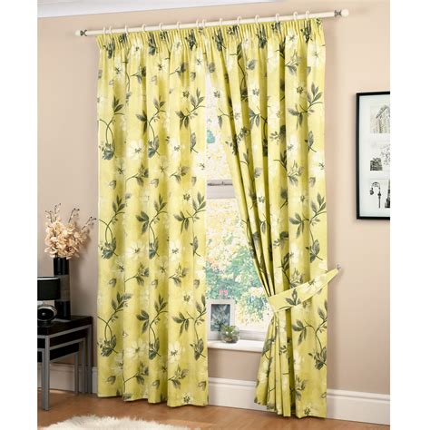 Curtains With Green Decorating Yellow Floral Curtains Furniture Ideas Deltaangelgroup In Curtain Idolza
