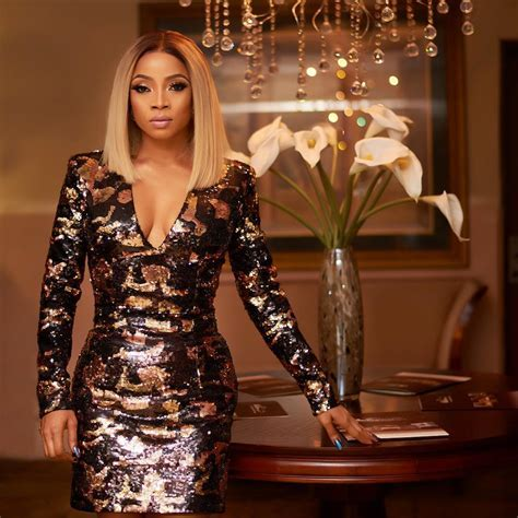 Look Of The Day: Toke Makinwa In Balmain Camouflage Sequin
