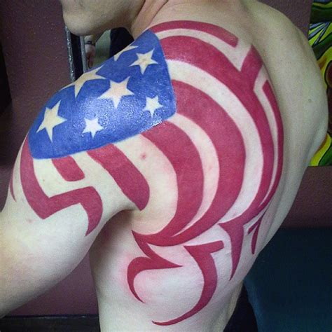 patriotic tribal tattoos the gallery for gt american flag tattoos designs tribal