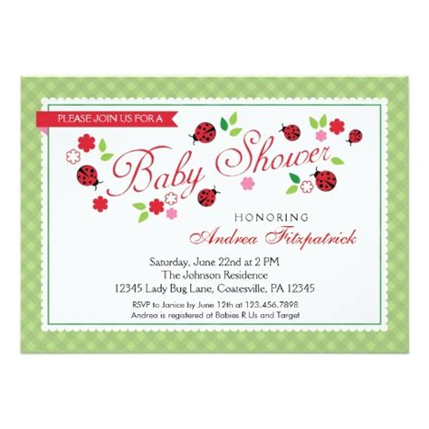 Bug Baby Shower by Bug Baby Shower Invitation Ladyprints