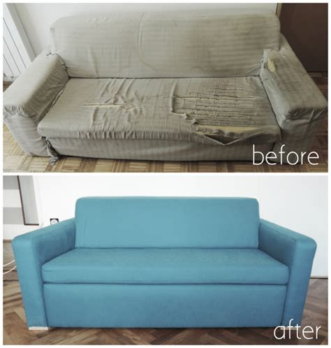 Reupholster Sleeper Sofa by Remodelaholic 28 Ways To Bring New To An Sofa