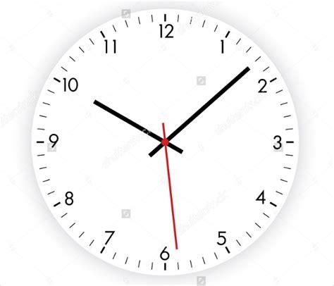 printable clock design 8 wall clock templates psd vector eps ai illustrator